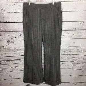 Gap 16r gray pinstripe pants